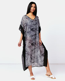Joy Collectables Animal Printed Kaftan Grey