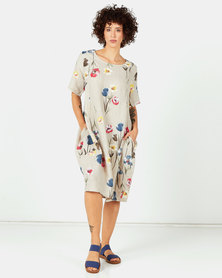 Assuili Im Linen Dress Desert