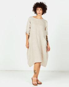 Assuili Aligne Double Linen Dress Desert