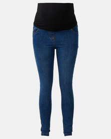 Cherry Melon Powerfit Skinny Jeans Mid Blue