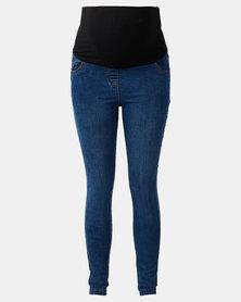 Cherry Melon Powerfit Skinny Jeans Mid Blue