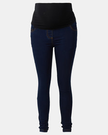 Cherry Melon Powerfit Skinny Jeans Dark Blue