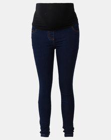 Cherry Melon Powerfit Skinny Jeans Dark Blue
