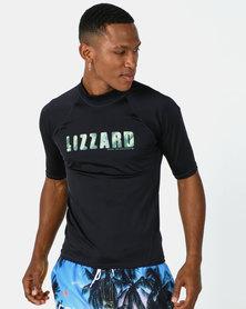 Lizzard Magnet Rash Vests Black