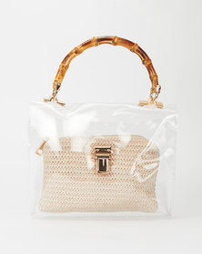 Miss Maxi Shopper Bag Transparent
