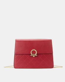Miss Maxi Classic Quilt Crossbody Bag Red