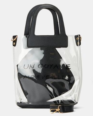 Miss Maxi Crossbody Bag Black Transparent
