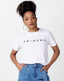 New Look Cotton Friends Logo T-Shirt White