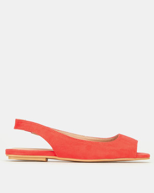 New Look Suedette Peep Toe Slingbacks Bright Pink