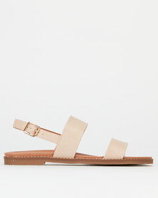 New Look Two Part Footbed Sandals Oatmeal