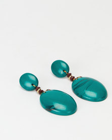 Miss Maxi Drop Earrings Turquoise Green