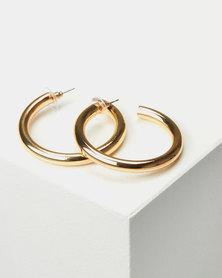 Miss Maxi Open Hoop Earrings Gold-tone