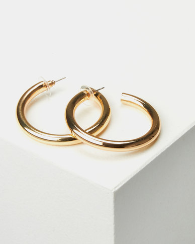 Miss Maxi Open Hoop Earrings Gold-tone