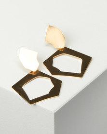 Miss Maxi Sculperal Drop Earrings Gold-tone