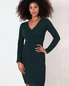 Marique Yssel Bodycon Hug Dress - Fir