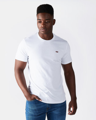 Levi's ® Cotton & Patch Chest Logo Tee White