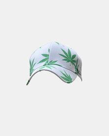SKA Cannabis Leaves Cap White