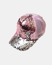 SKA Glitter Baseball Cap Pink