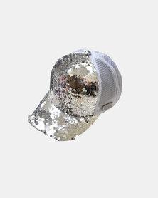 SKA Glitter Baseball Cap White