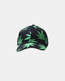 SKA Cannabis Leaves Cap Black