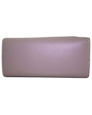 Fino Flap Over PU Leather Purse with Box-Purple