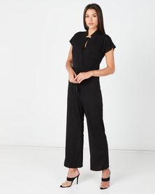 Utopia Bon Bon Knit Jumpsuit Black