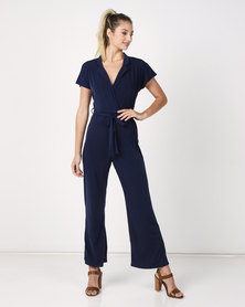 Utopia Bon Bon Knit Jumpsuit Navy