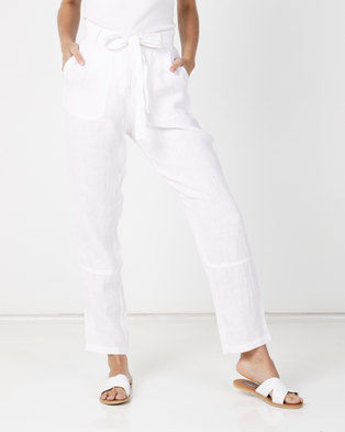 Utopia 100% Line Tapered Trousers White