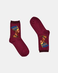 SKA Egyptian Fashion Socks Maroon