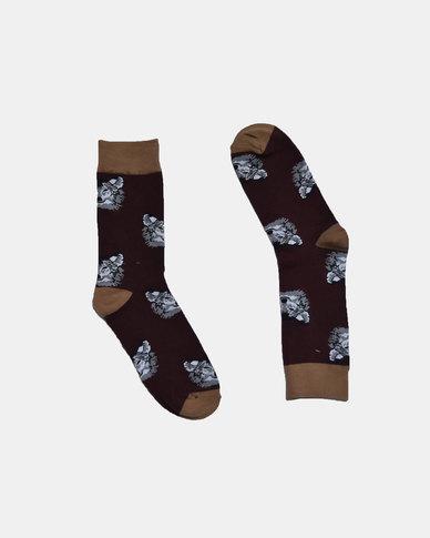 SKA Wolf Fashion Socks Black