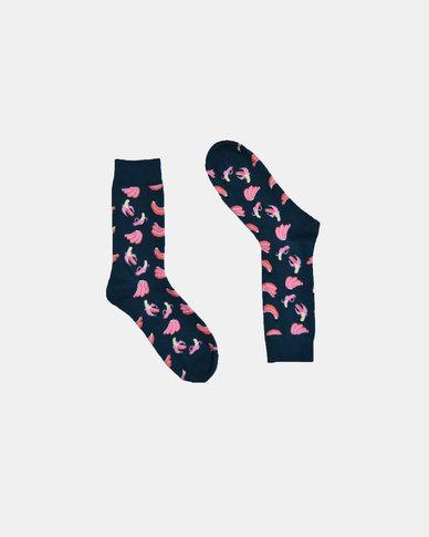 SKA Banana Fashion Socks Black