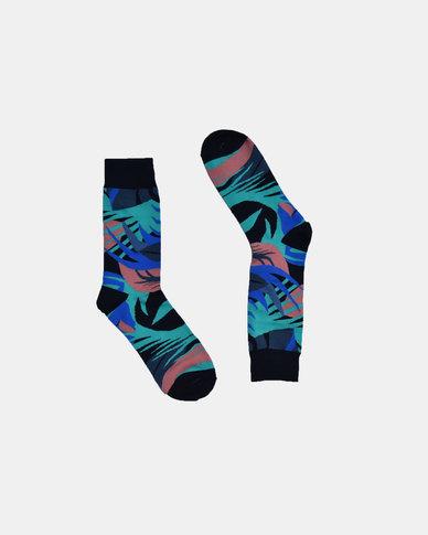 SKA Tropical Fashion Socks Black