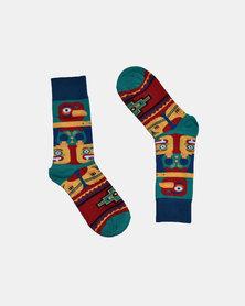 SKA Design Fashion Socks Teal