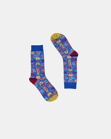 SKA Lamp Fashion Socks Blue