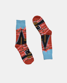 SKA Route 66 Fashion Socks Red
