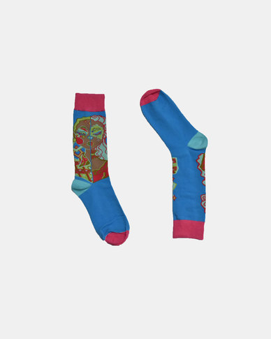 SKA Fashion Socks Pink - Blue
