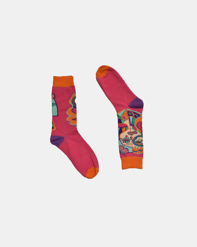 SKA Fashion Socks Pink - Purple