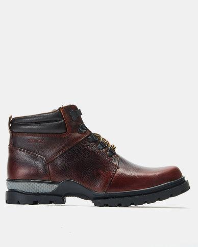Bronx Men Trap Boots Red Brown/Choc