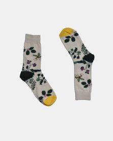 SKA Bees Fashion Socks Beige