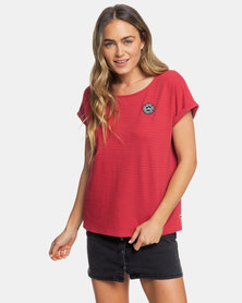 Roxy Blue Lagoon View A T-Shirt Red