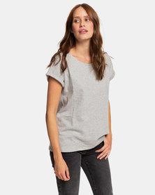 Roxy Blue Lagoon View B T-Shirt Grey