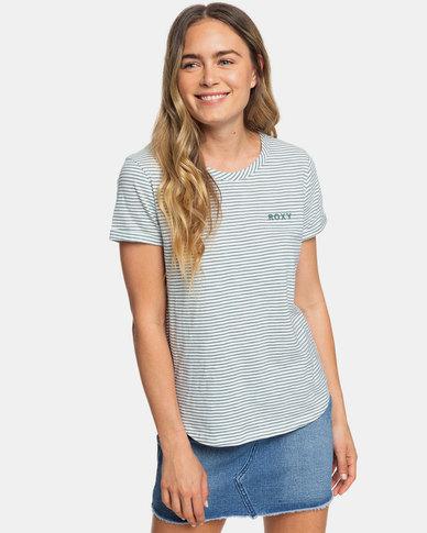 Roxy Love Sun Stripe T-Shirt Trooper