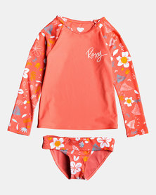 Roxy Tods Fruity Shake Long Sleeve Swim Set Durbarry