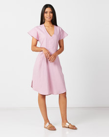 Nucleus Bent & Folded Kaftan in Pink