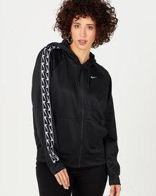 Nike W NSW Hoodie FZ Logo Tape Black