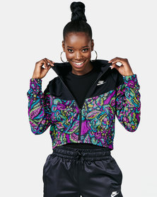 Nike W NSW FTR FEM Jacket PK AOP Black