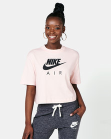 Nike W NSW AIR Short Sleeve Pink