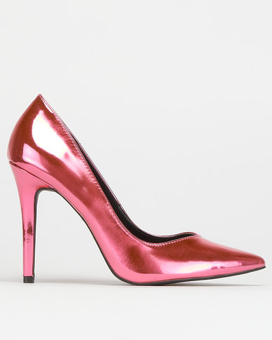 Utopia Metallic Patent Court Fuscia