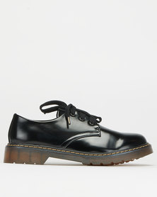 Utopia Gum Sole Lace Up Black