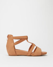 Utopia Footbed Gladiator Sandals Tan